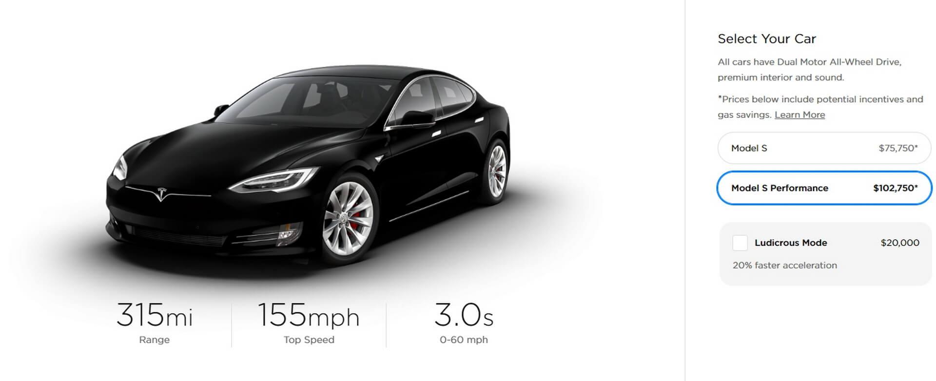 Tesla Model SPerformance