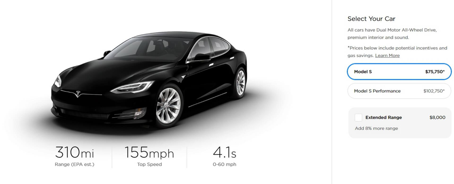 Tesla Model S«Standard Range»