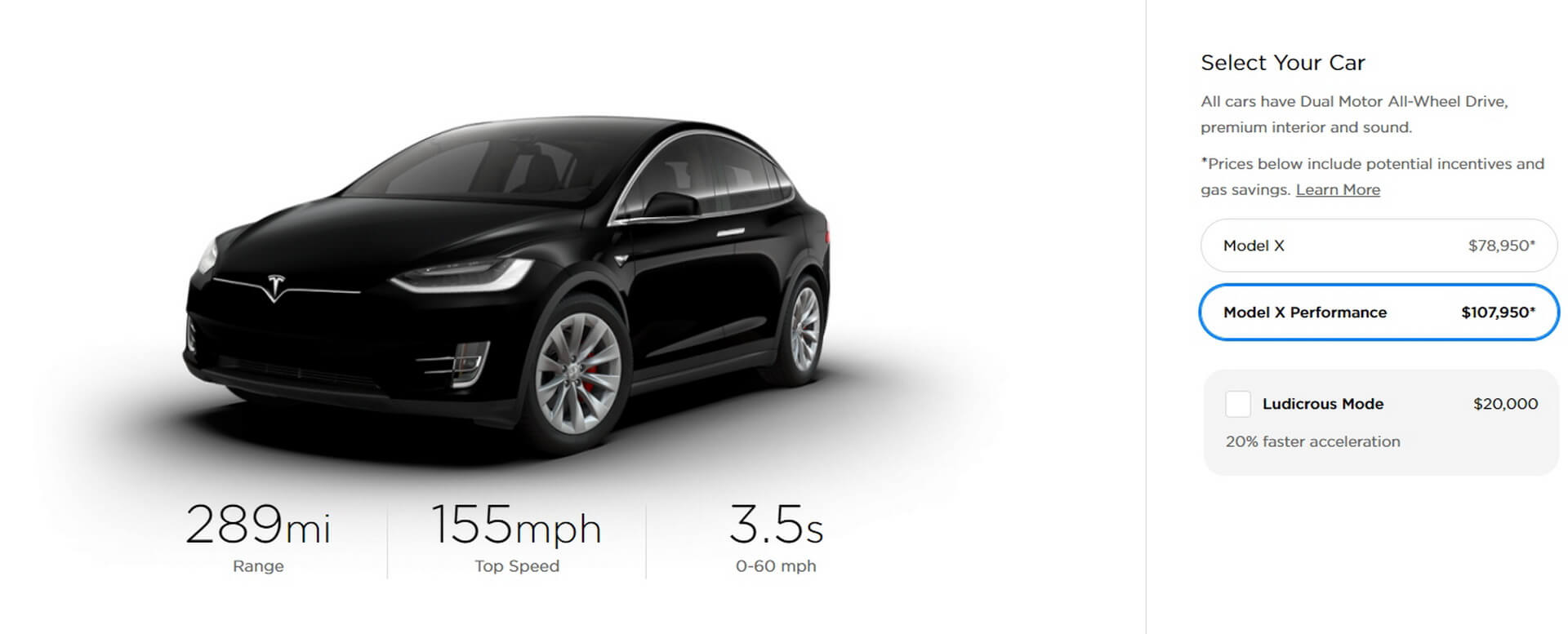 Tesla Model XPerformance