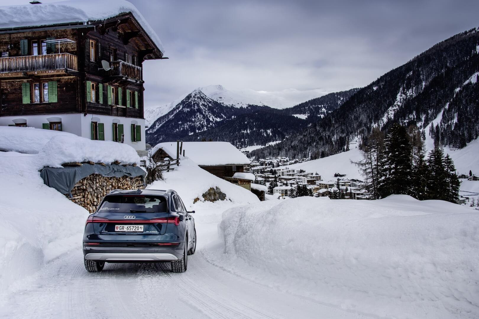 Audi e-tron quattro в Давосе