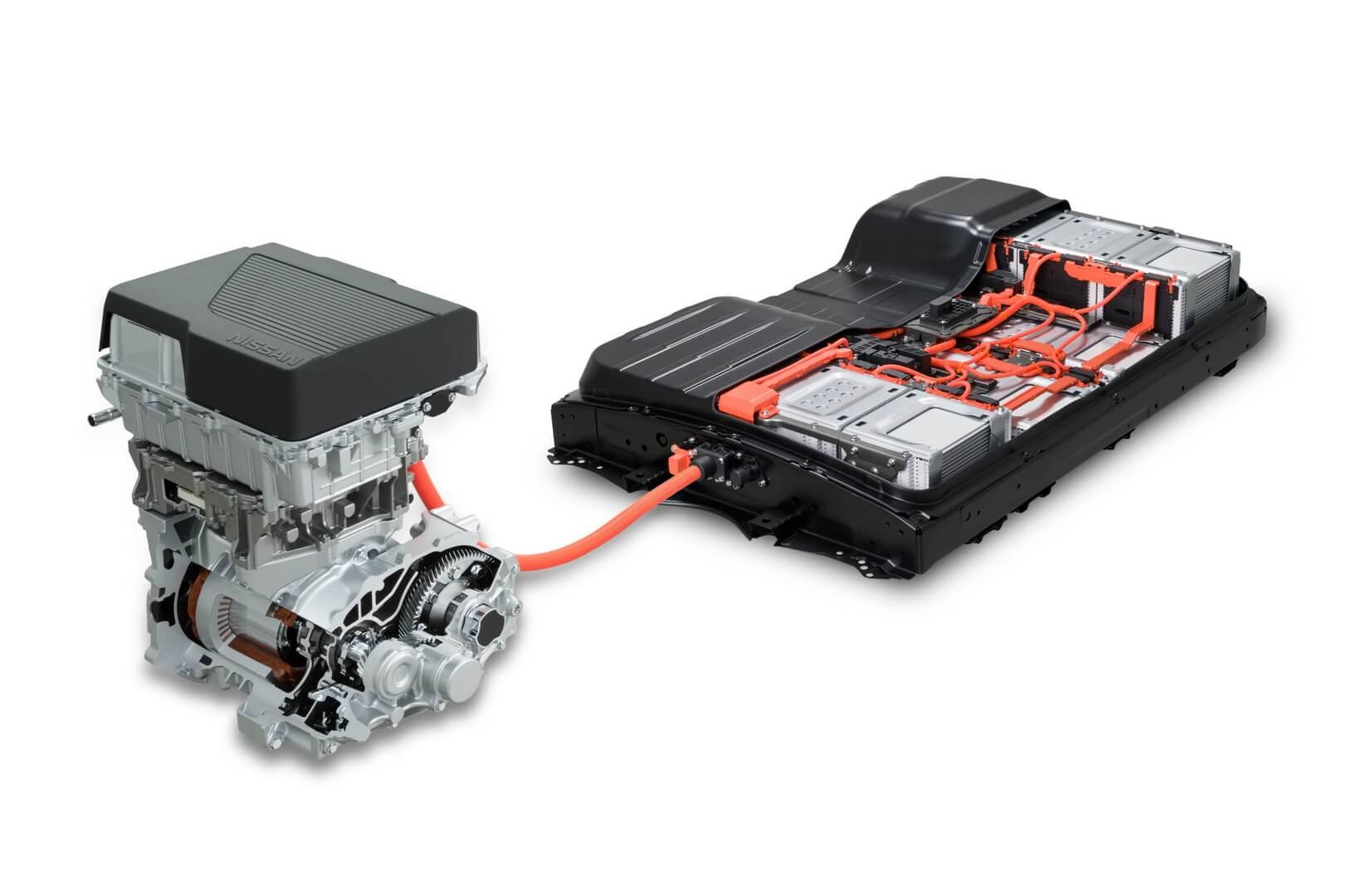 Силовая установка Nissan Leaf e+ с батареей на 62 кВт⋅ч