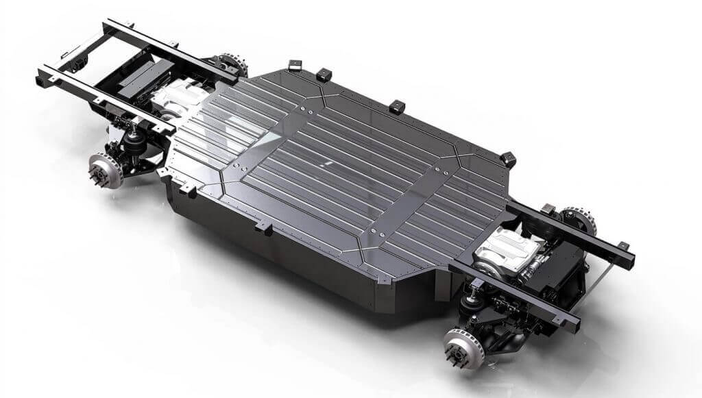 Силовая установка и батарея электрического пикапа Atlis XT