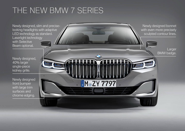 Изменения передней части в BMW 7 Series 2019