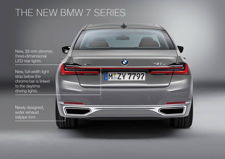 Изменения кормы в BMW 7 Series 2019