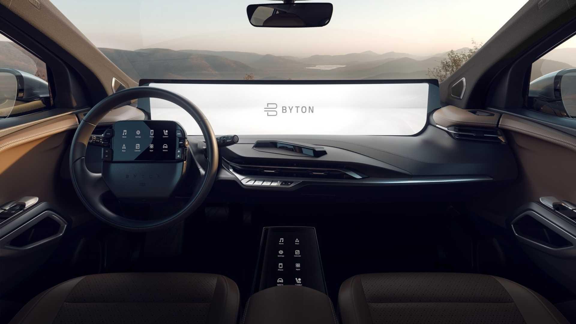 Центральный дисплей BYTON M-Byte будет шириной, как семь iPad