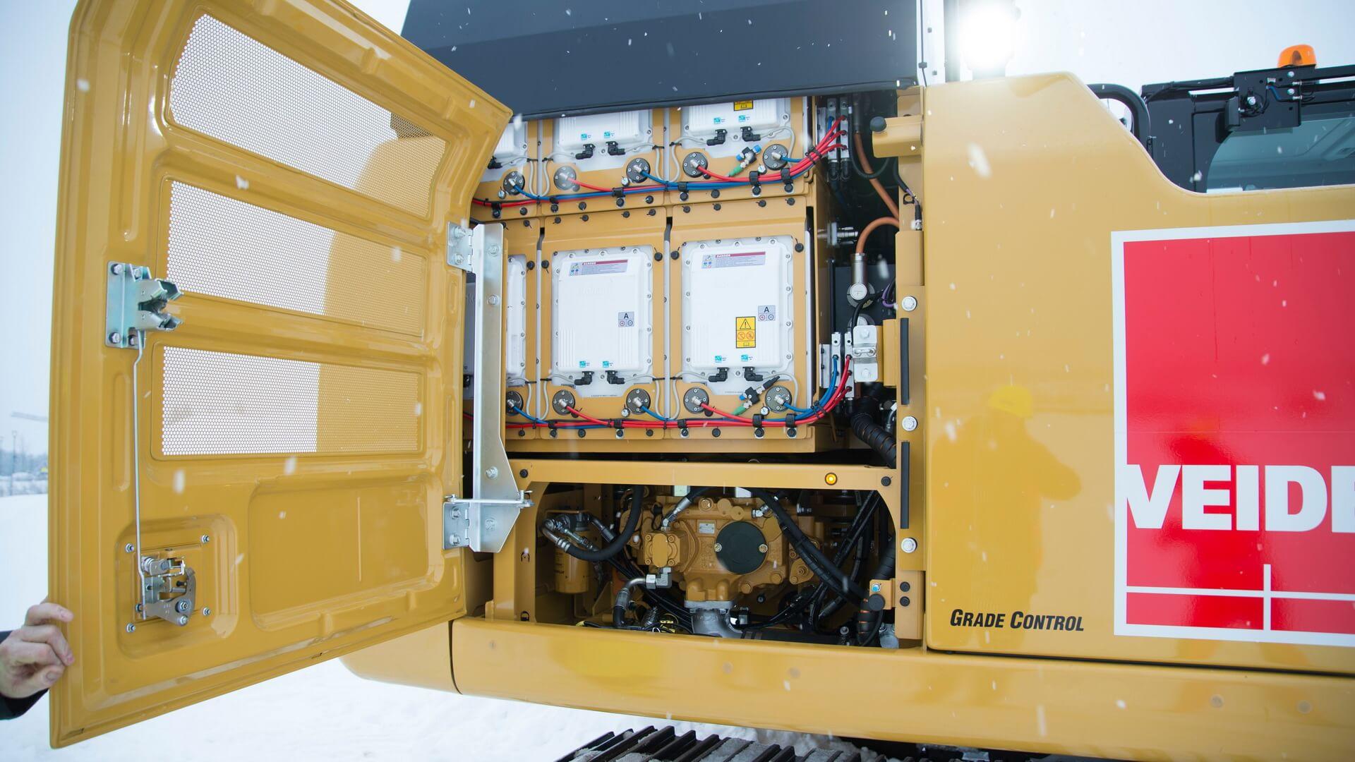 Силовая установка электрического 26-тонного экскаватора Caterpillar