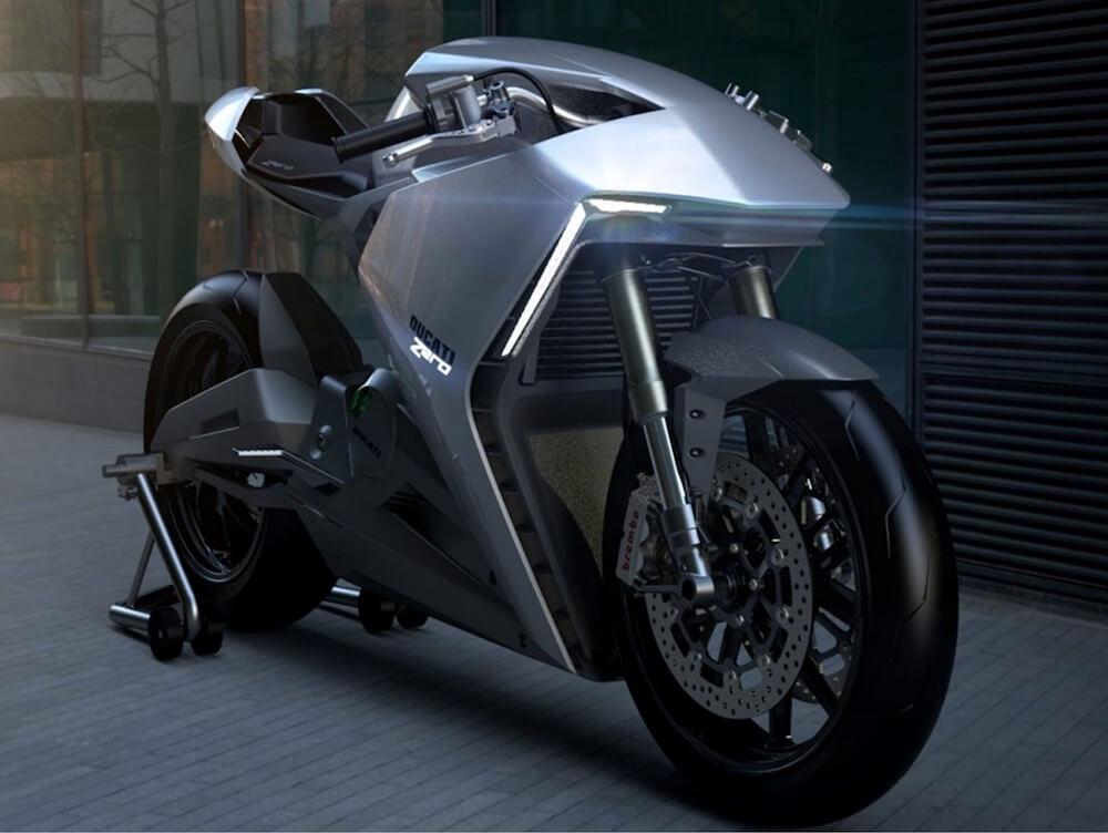 Концепт электрического мотоцикла Ducati Zero - фото 2