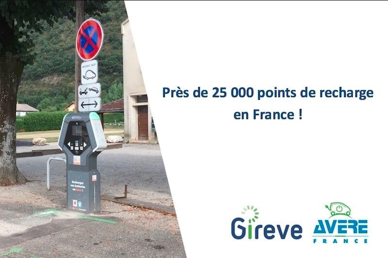 Франция насчитывает 25000 зарядных станций для электромобилей