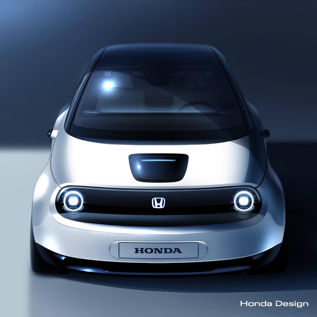 Дизайн электромобиля Honda Urban EV в преддверии дебюта в Женеве