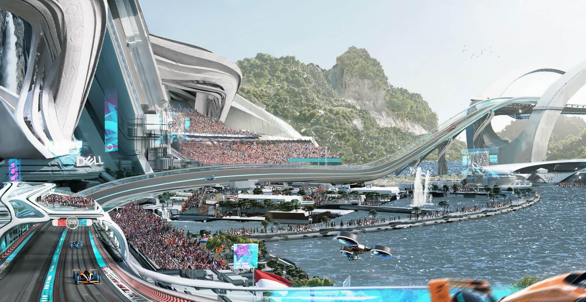 Гоночный трек F1 будущего