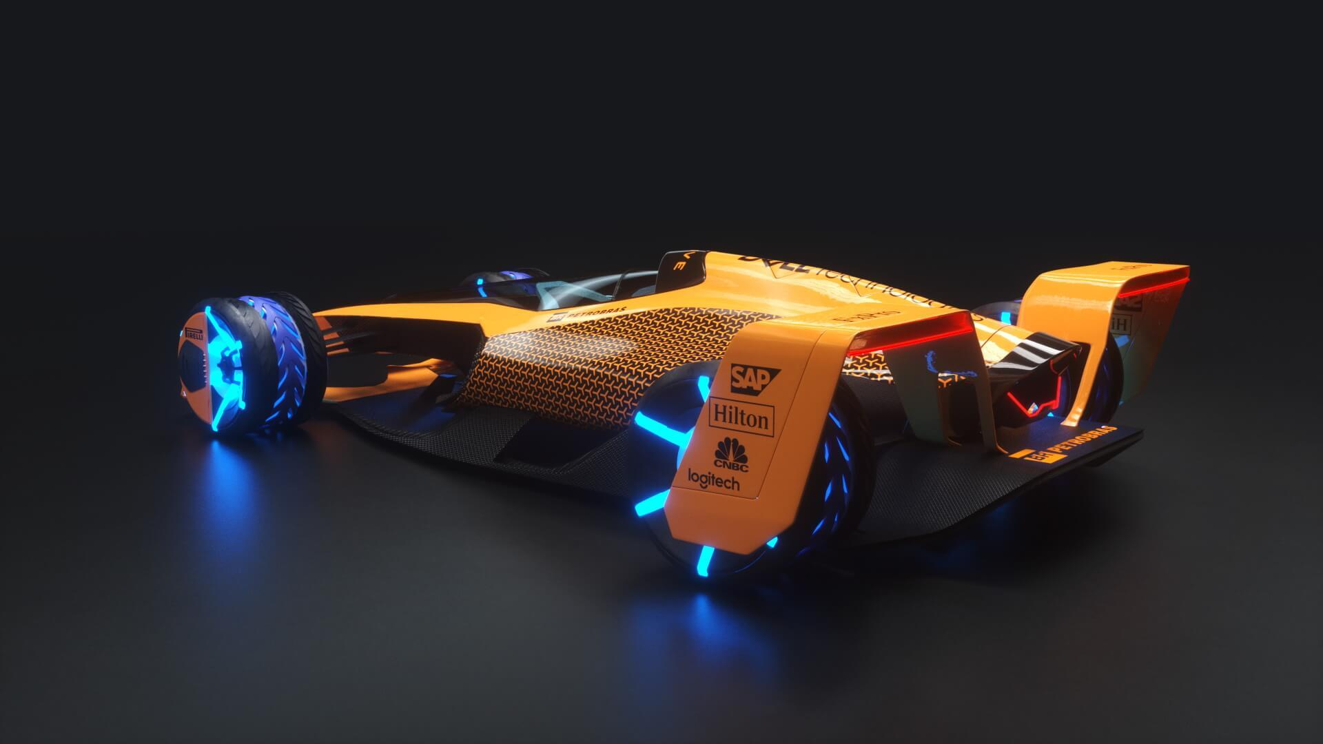 McLaren F1 в 2050 году - вид сбоку