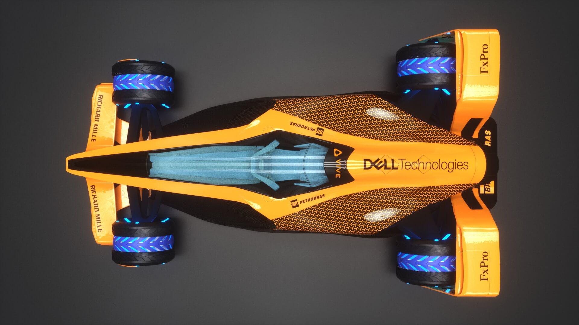 McLaren F1 в 2050 году - вид сверху