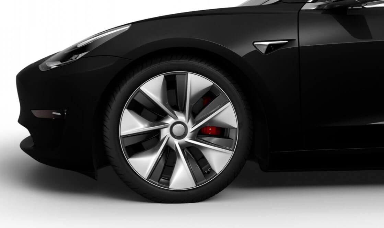 Китайские электромобили Tesla Model 3 предлагаются с19-ти дюймовыми дисками «Power Sports»