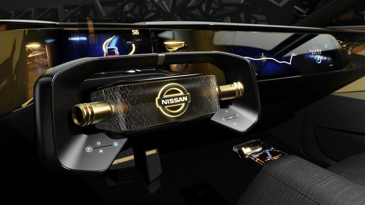 Рулевое колесо электрического спортивного седана Nissan IMs
