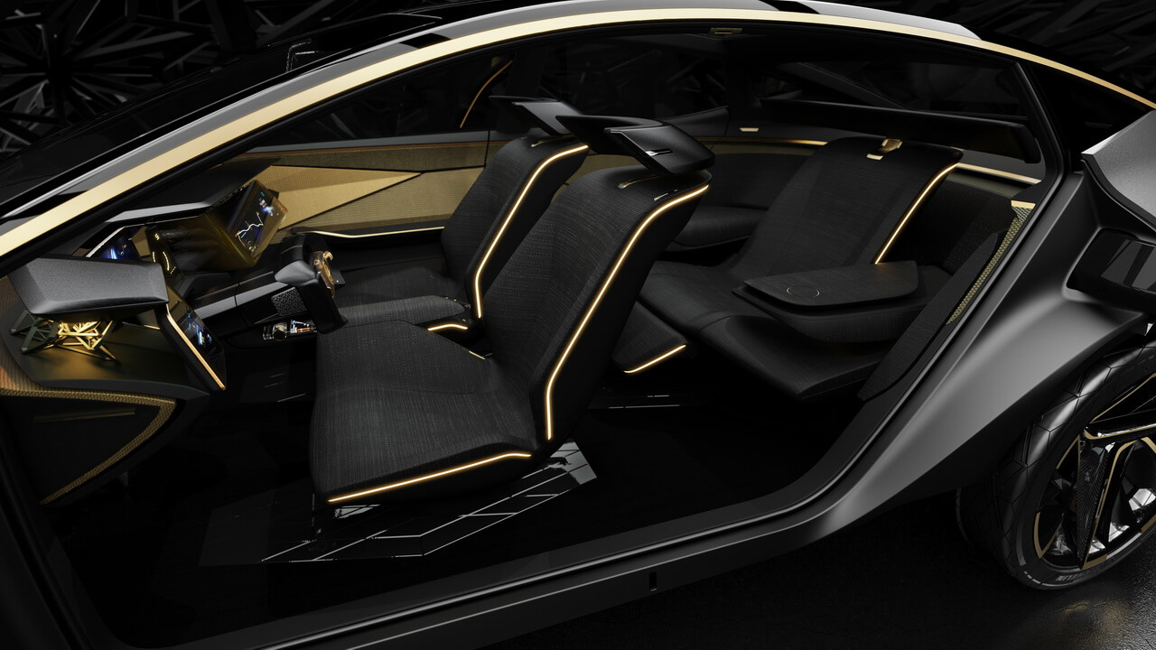 Компоновка сидений салона электрического концепта Nissan IMs