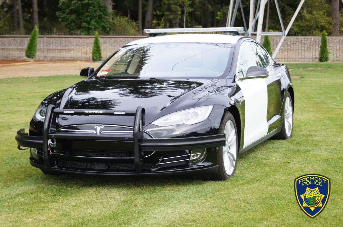 Полицейская Tesla Model SвоФримонте