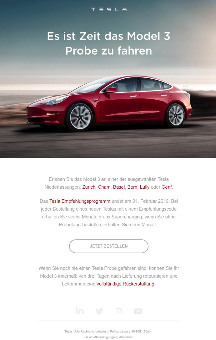 Tesla начинает тест-драйвы Model 3для владельцев бронирования вЕвропе