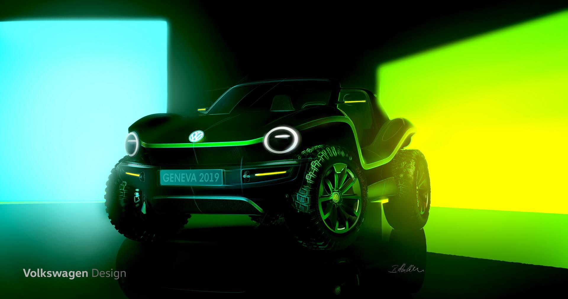 Тизер полностью электрической версии нового багги от Volkswagen на платформе MEB