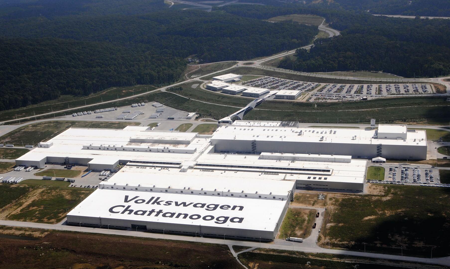 Завод Volkswagen в Чаттануге, штат Теннесси, США