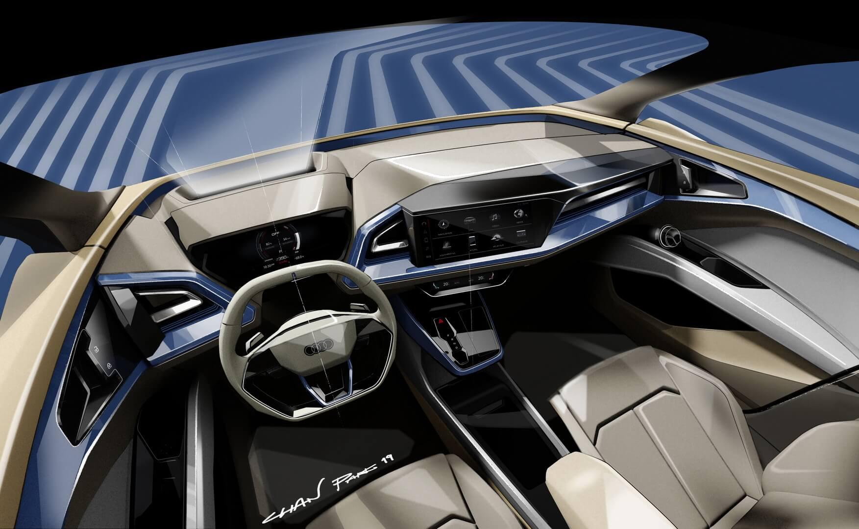 Дизайн интерьера Audi Q4 e-tron