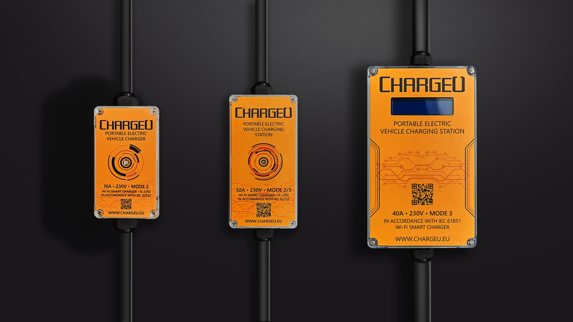 Портативные зарядные станции для электромобилей и плагин-гибридов ChargeU