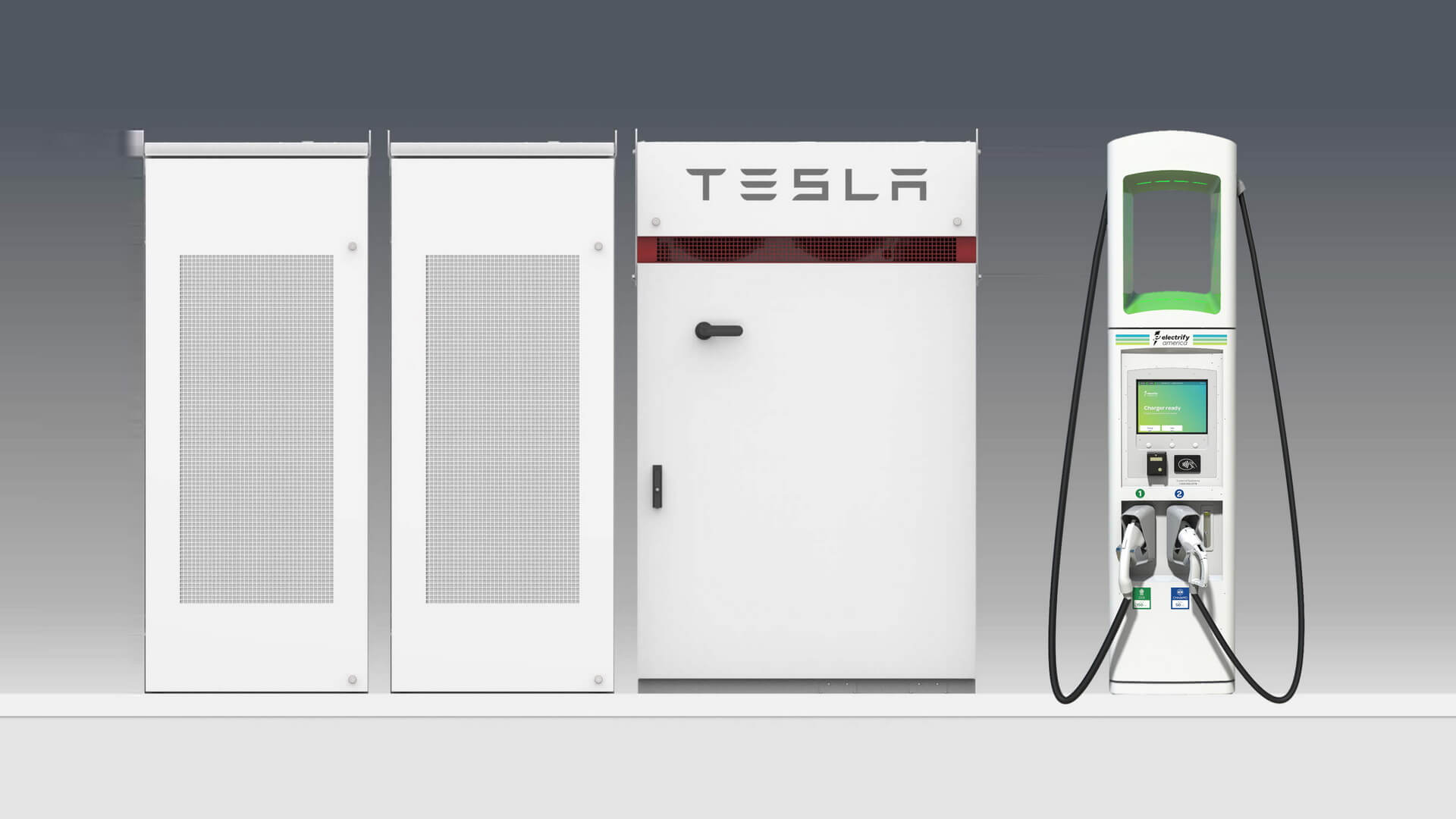 Electrify America установит системы Tesla Powerpack на100 зарядных станциях