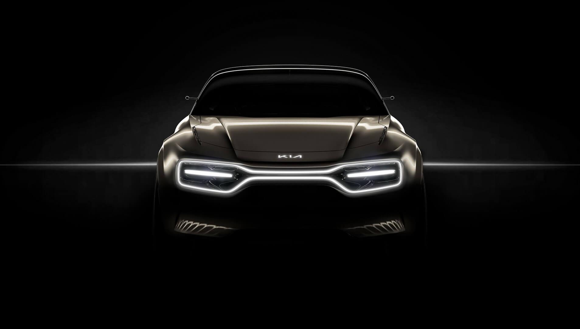 Тизер нового концепта спортивного электромобиля KIA