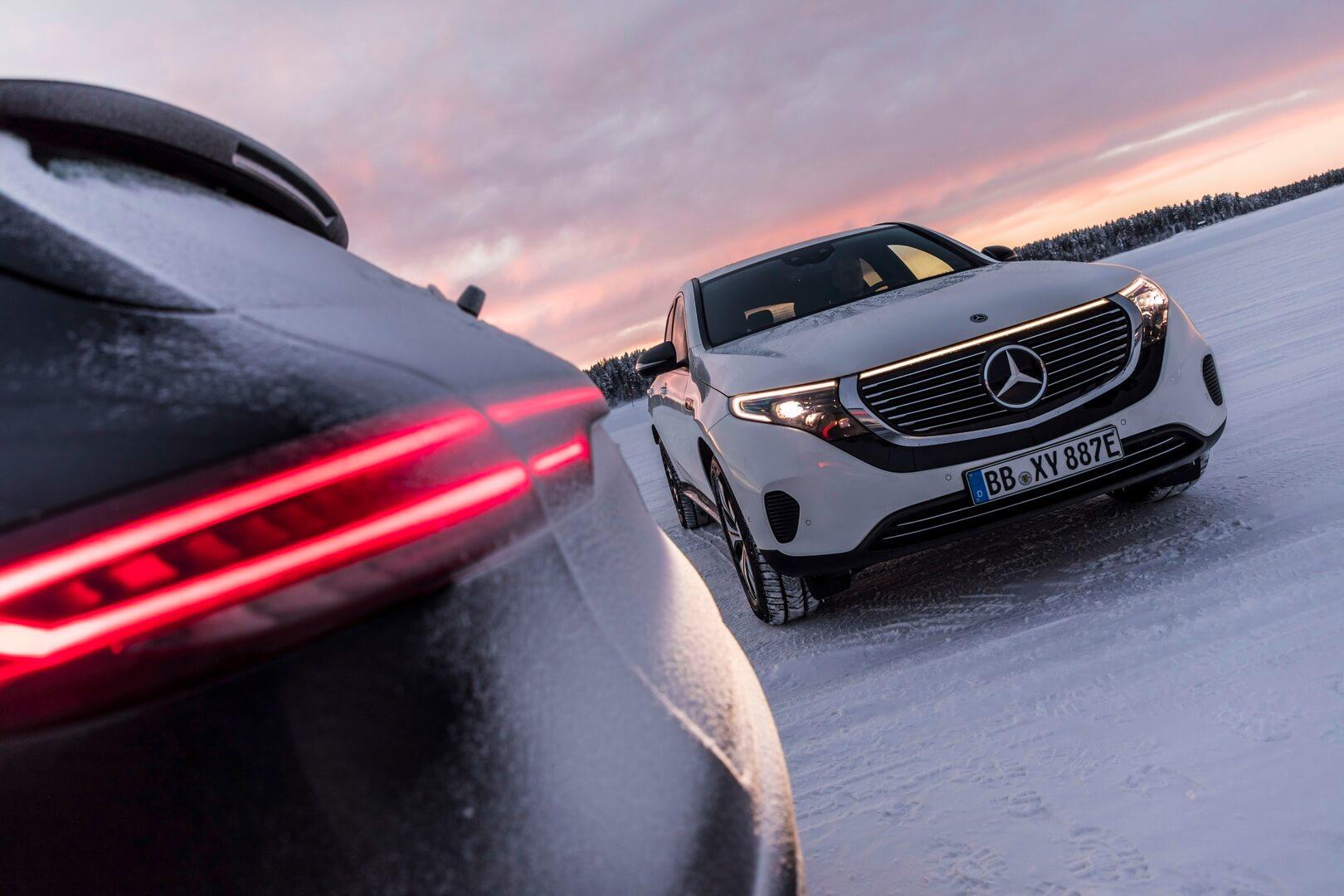 Mercedes-Benz EQC проходит суровые зимние испытания в Швеции