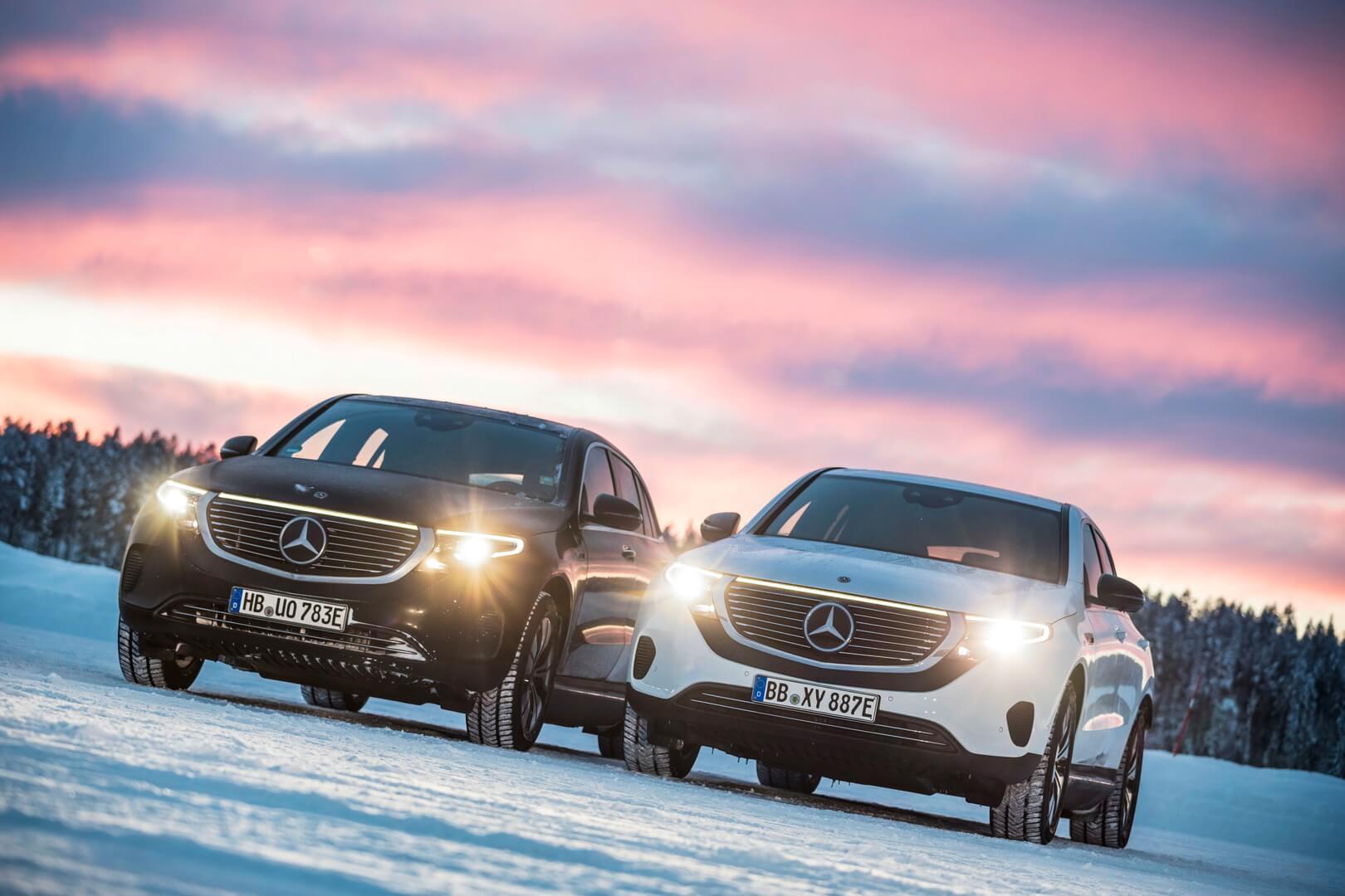 Зимние испытания Mercedes-Benz EQC