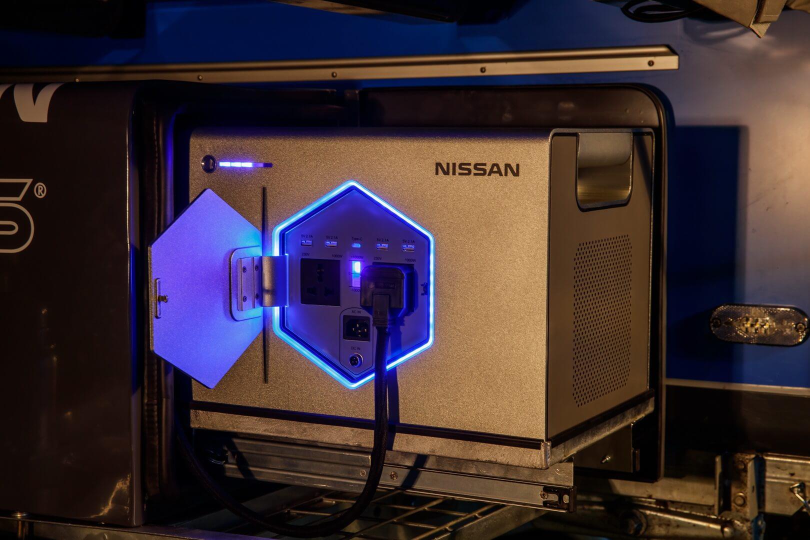 Блок питания использующий технологию аккумуляторных батарейэлектромобилей отNissan