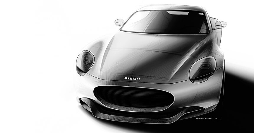Дизайн электрического спорткара Piëch Mark Zero