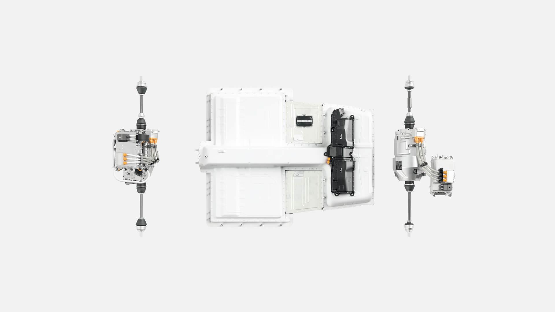Электрическая трансмиссия и батарея вPolestar 2