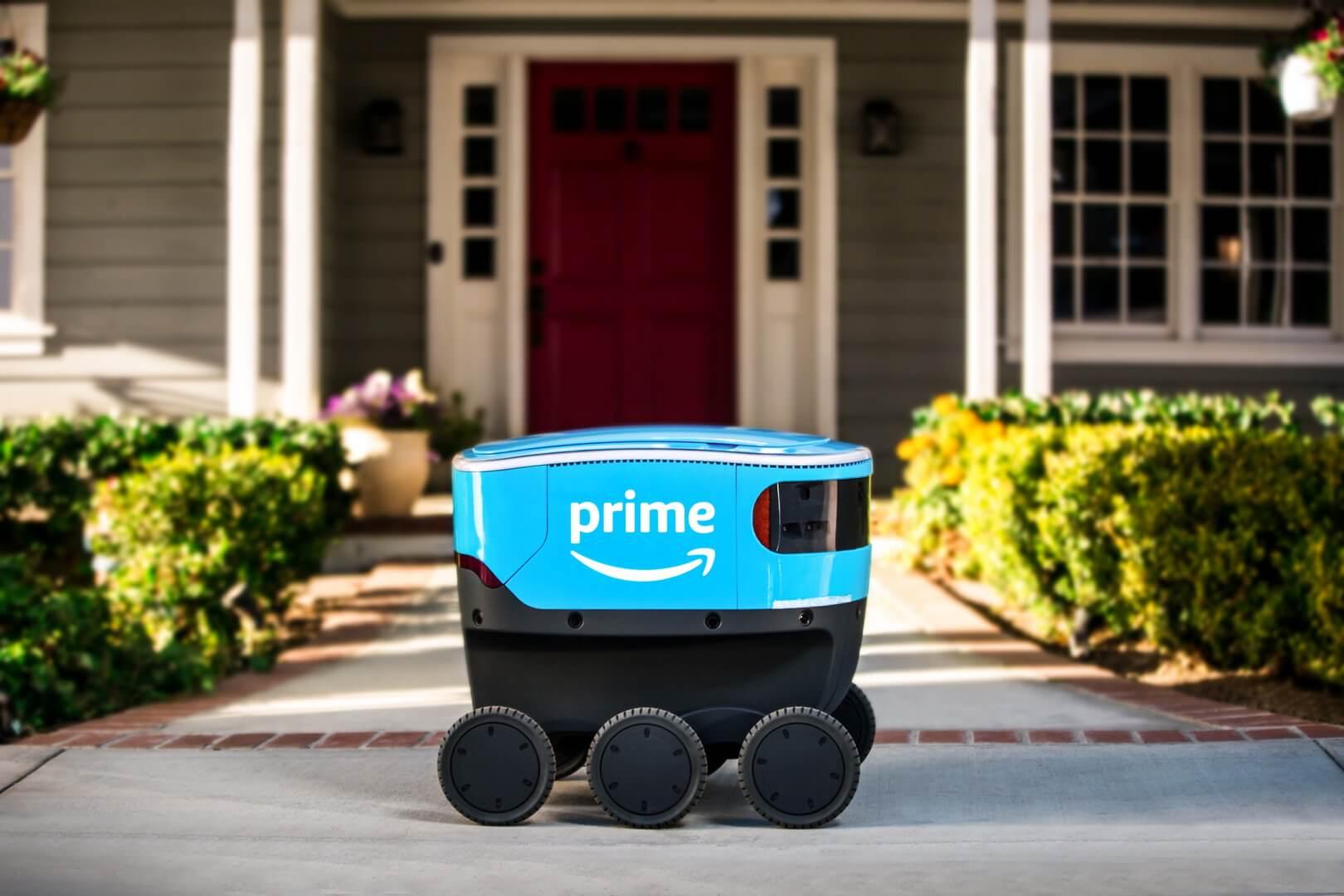 Система доставки Amazon Scout с использованием автономных электрических устройств