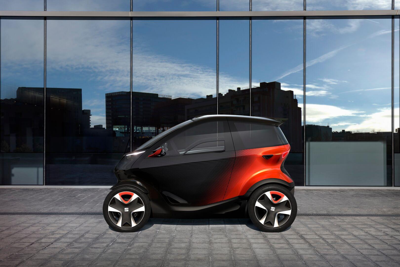 SEAT Minimó: электроконцепт симбиоза автомобиля имотоцикла