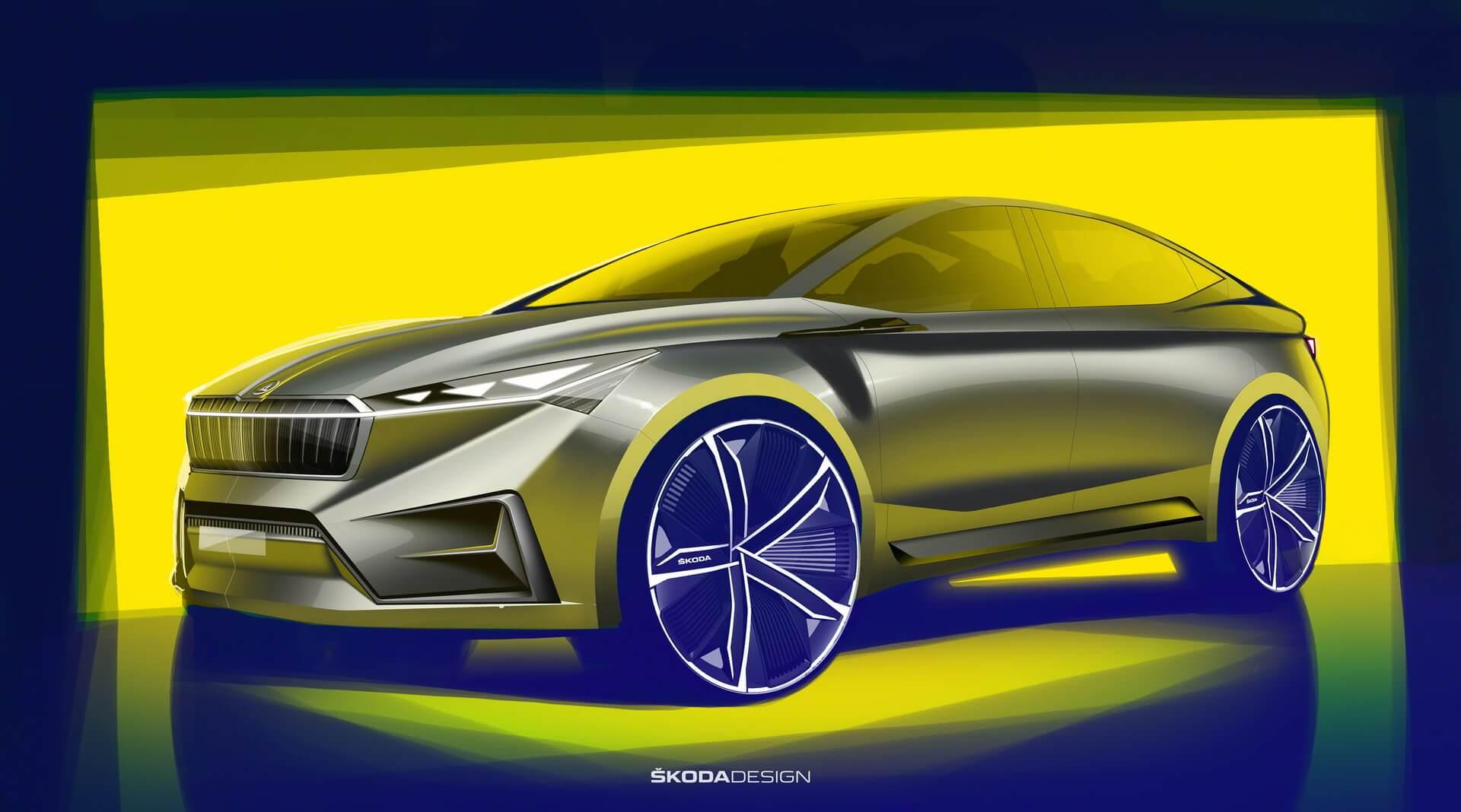 Skoda представила дизайн концепта электромобиля Vision iV