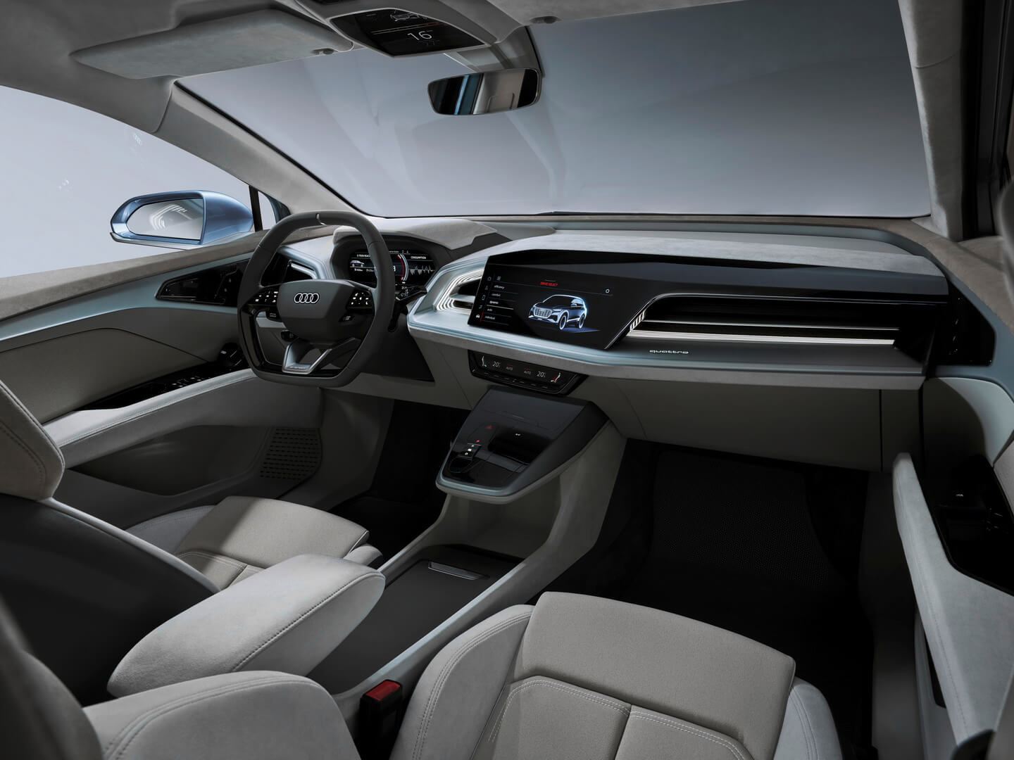 Интерьер электрического кроссовера Audi Q4e-tron