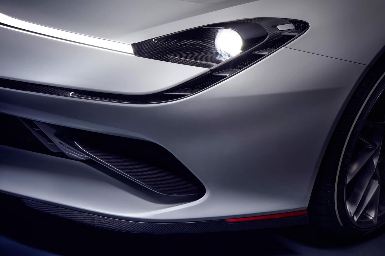 Дизайн передней части Pininfarina Battista