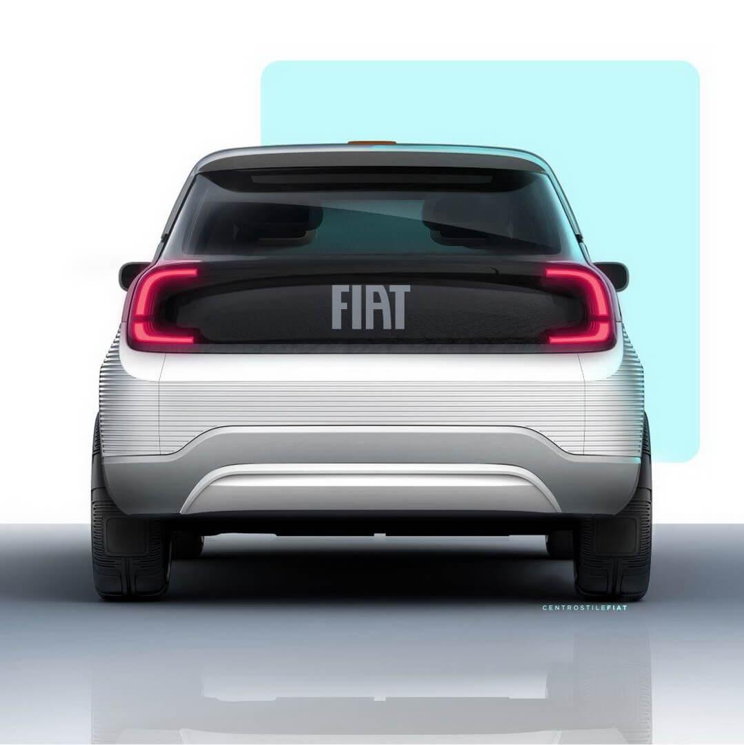 Fiat Concept Centoventi - вид сзади