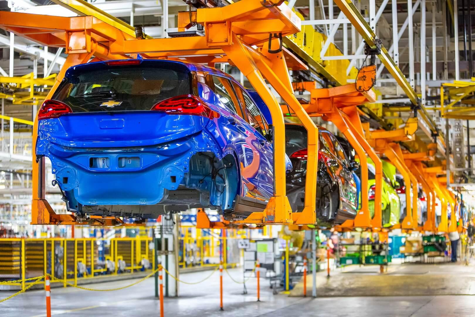 Производственная линия Chevrolet BoltEV