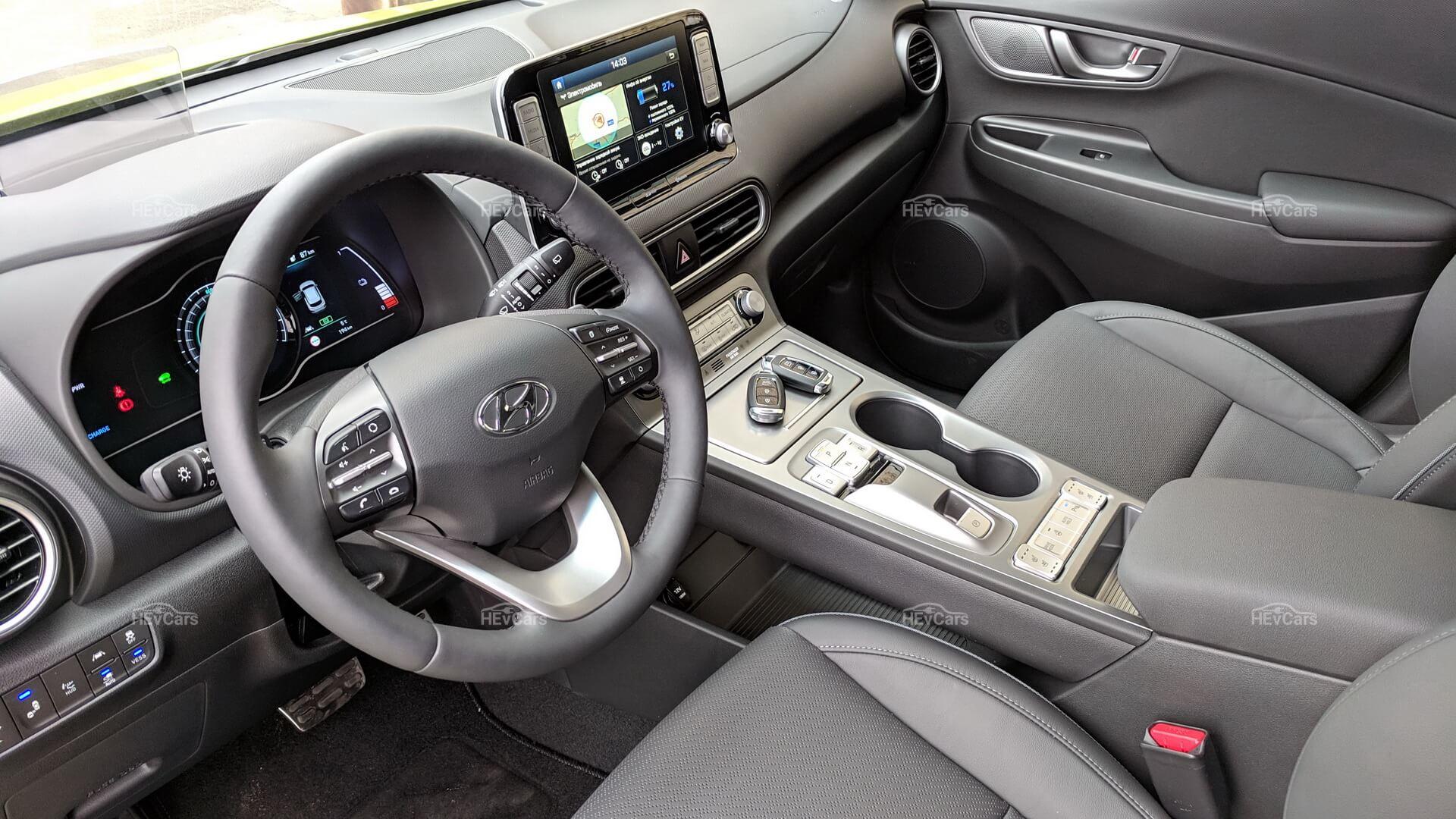Интерьерэлектромобиля Hyundai Kona Electric