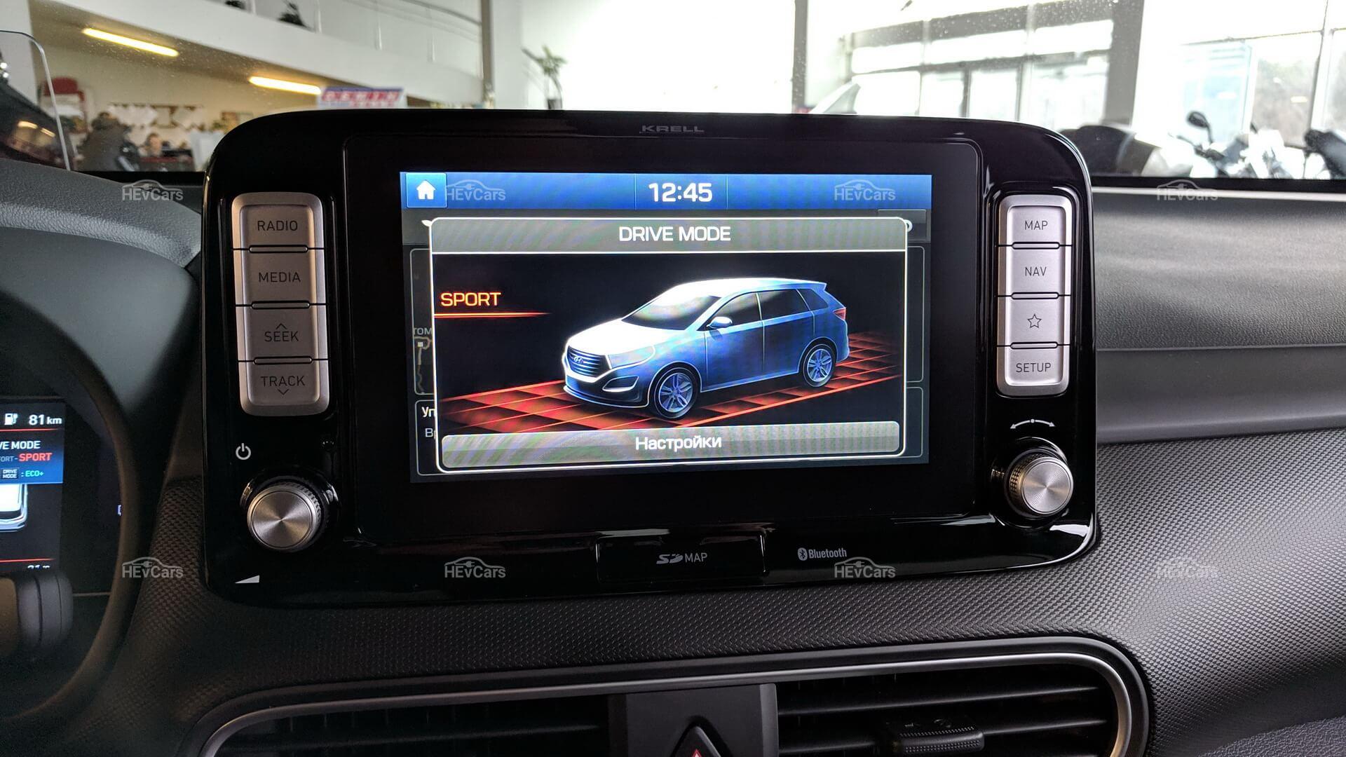 Спортивный режим Hyundai Kona Electric