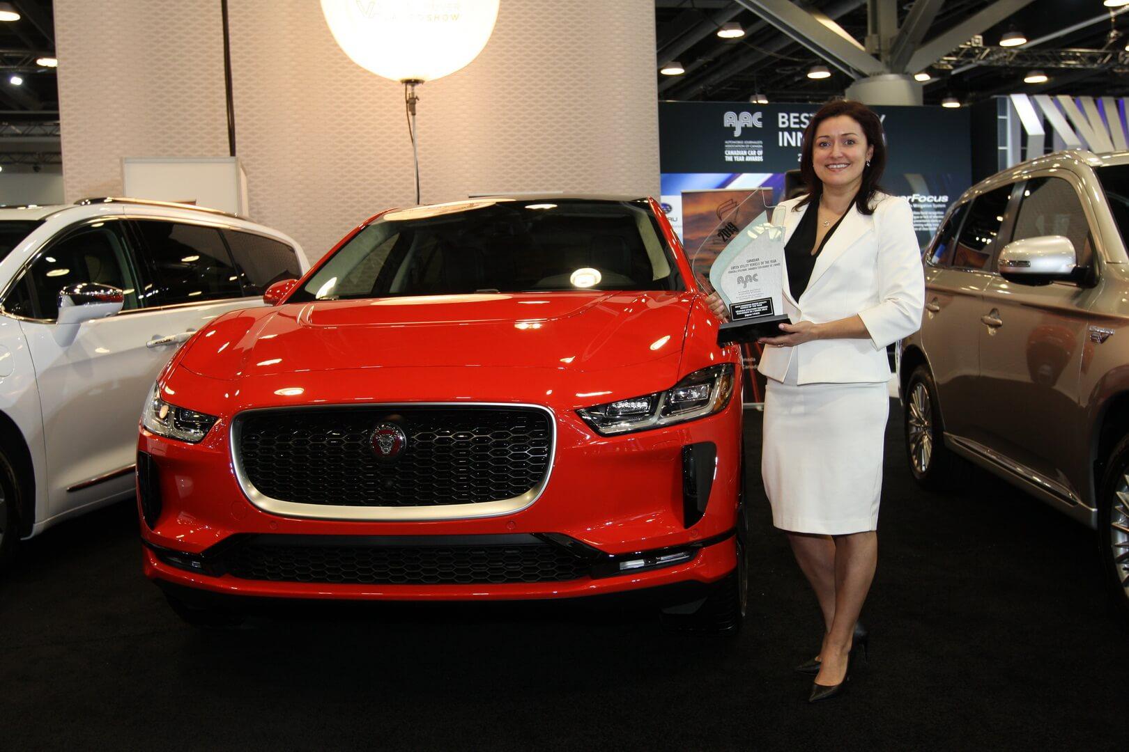 Jaguar I-Pace назван «зеленым кроссовером 2019года» вКанаде