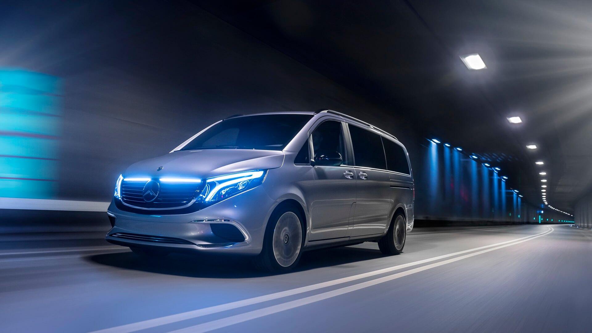 Премиальный электрофургон Mercedes-Benz EQV