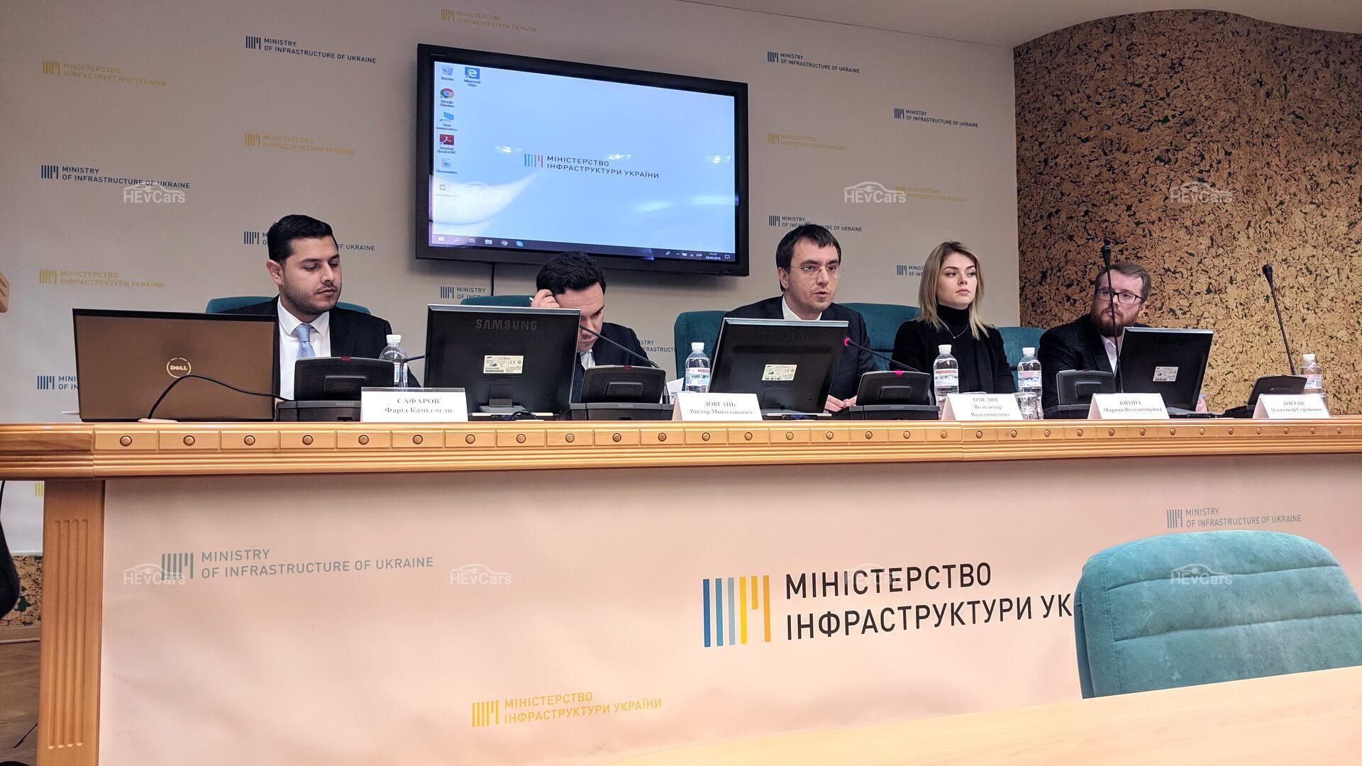 Владимир Омелян озвучил приоритетные задачи развития электротранспорта в Украине