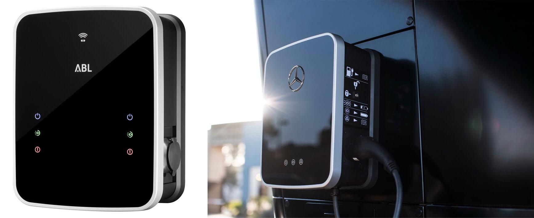 Настенные зарядные станции ABL Sursum и Mercedes-Benz