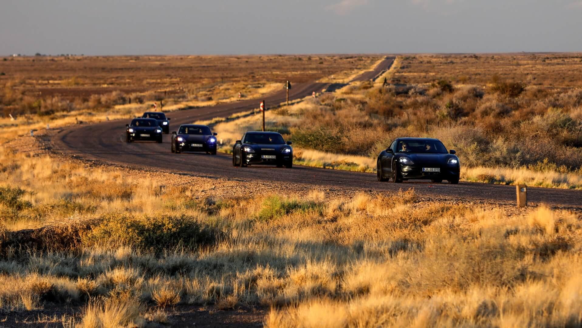 Porsche тестирует Taycan в Южной Африке