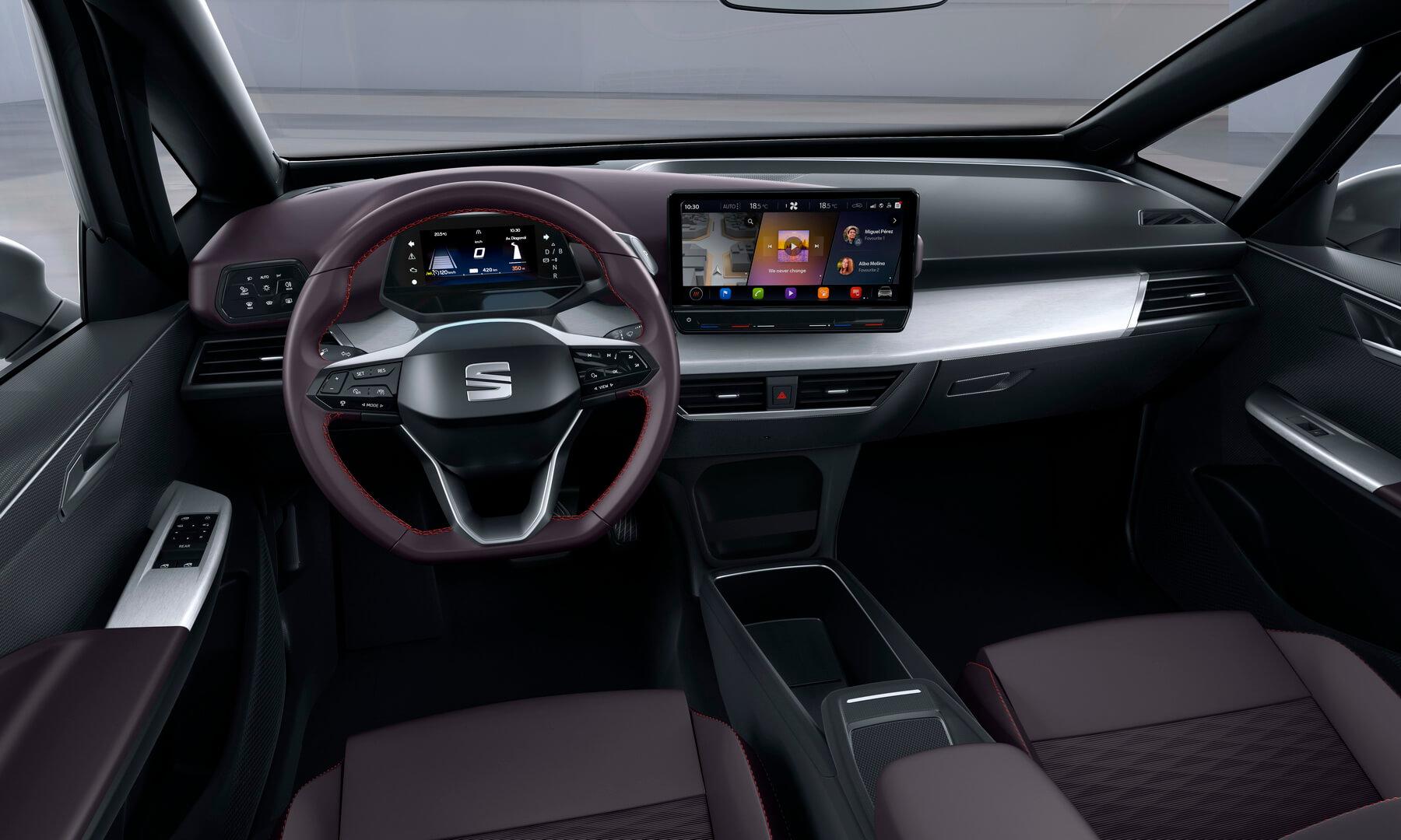 Интерьер электромобиля Seat el-Born
