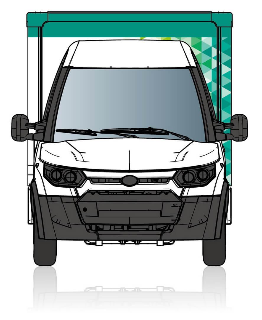Электрический фургон StreetScooter Work для Yamato