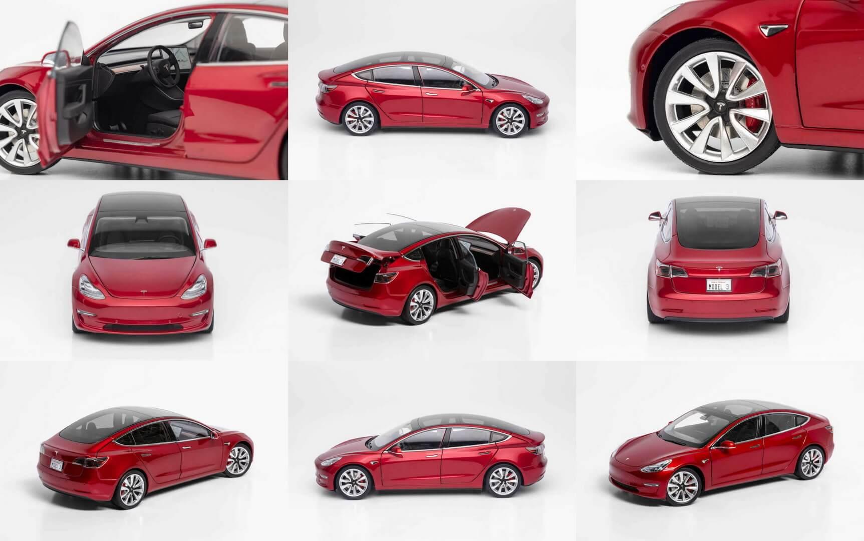 Электромобиль Model 3 в масштабе 1:18 shop.tesla.com