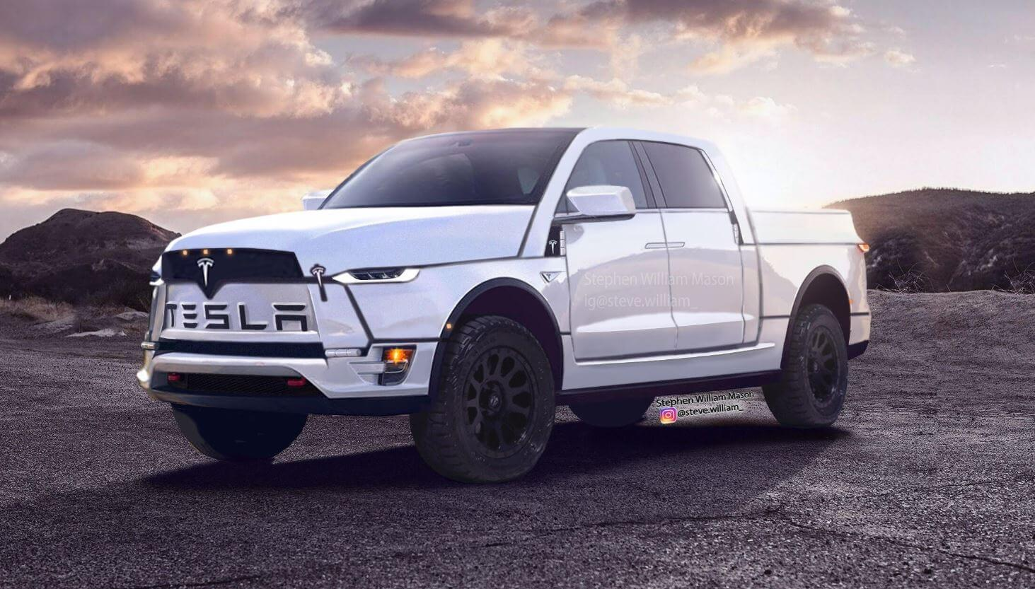 Самый смелый рендер будущего Tesla Truck